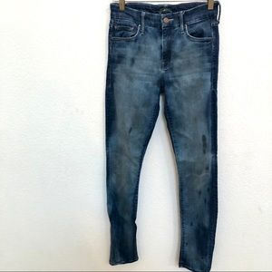 MOTHER The Looker Tie Dye Jeans Size 25 Distressed